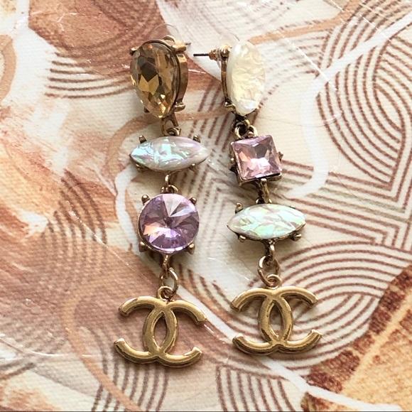 Reworked Chanel Hardware Earrings